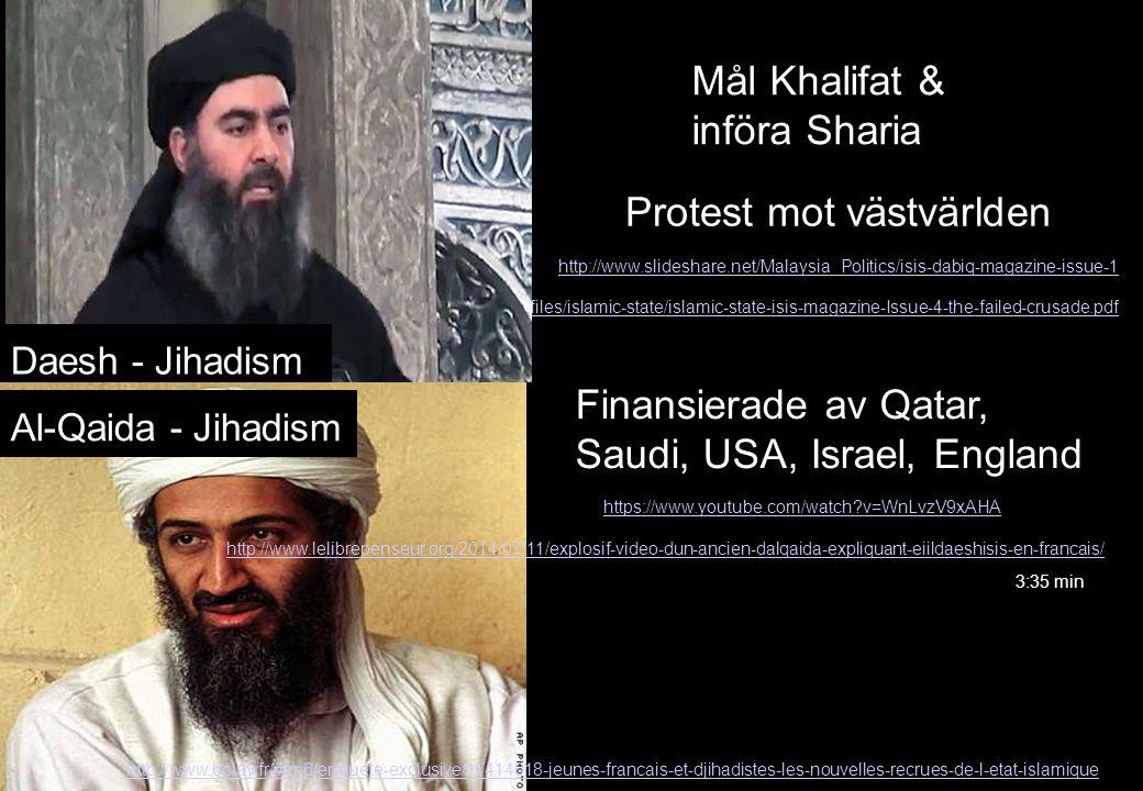 http://media.clarionproject.org/files/islamic-state/islamic-state-isis-magazine-Issue-4-the-failed-crusade.pdf Daesh - Jihadism Al-Qaida - Jihadism Må