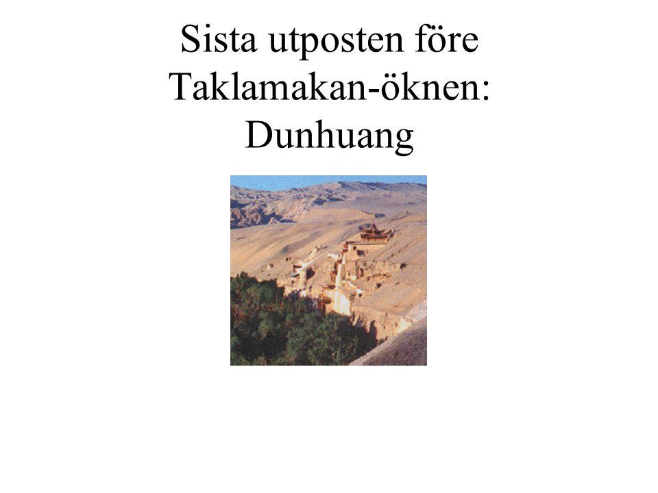 Sista utposten före Taklamakan-öknen: Dunhuang