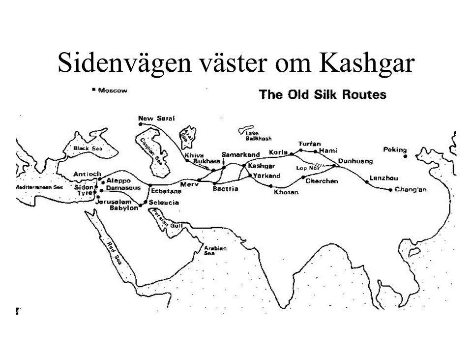 Sidenvägen väster om Kashgar