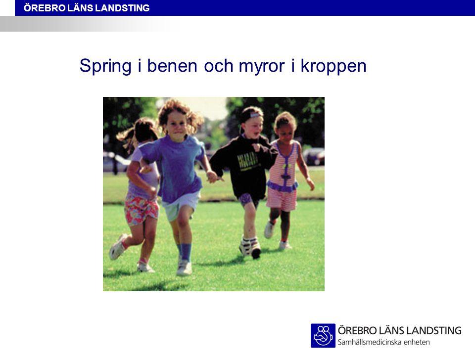 ÖREBRO LÄNS LANDSTING Spring i benen och myror i kroppen