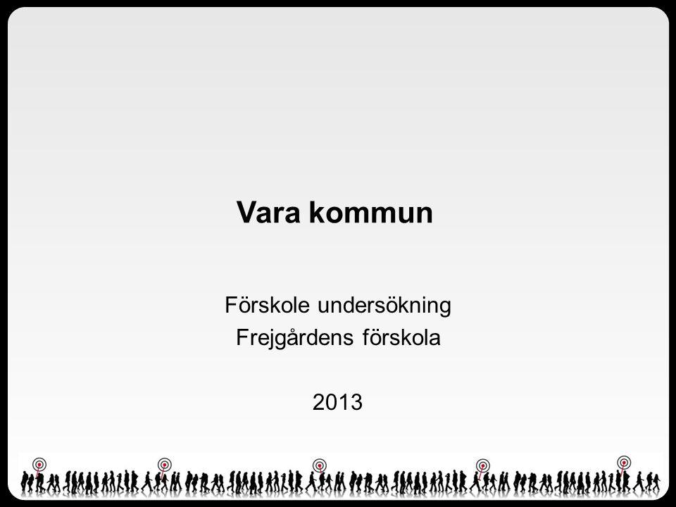 Vara kommun Förskole undersökning Frejgårdens förskola 2013