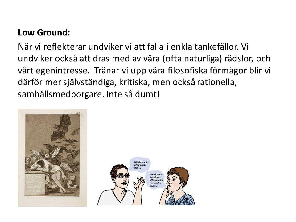 Low Ground: När vi reflekterar undviker vi att falla i enkla tankefällor.