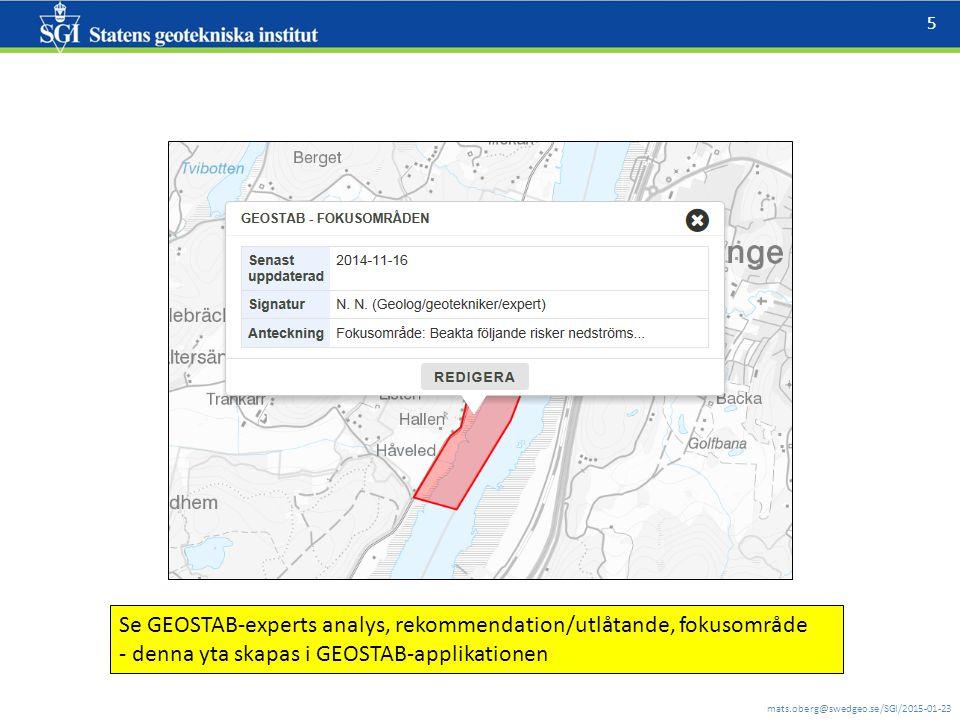 mats.oberg@swedgeo.se/SGI/2015-01-23 6 RTJ fält version 1.0.5 Olika sätt att påföra (och flytta/ta bort) en punkt : 1.PUNKT VID POSITION - Välj detta verktyg.