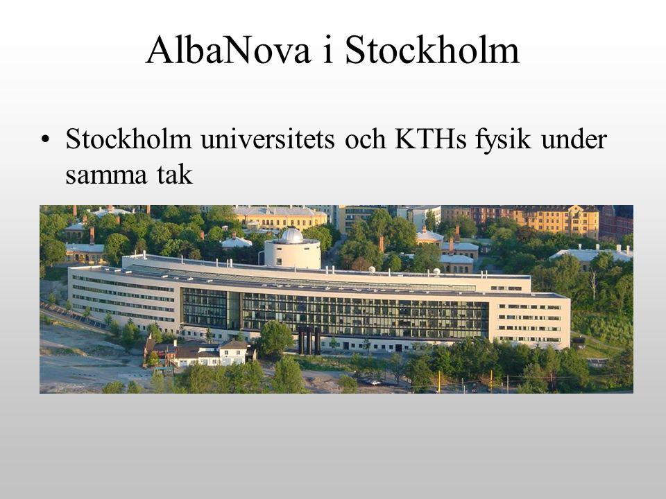 AlbaNova i Stockholm Stockholm universitets och KTHs fysik under samma tak
