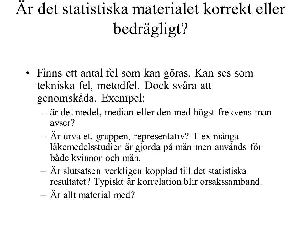 Är det statistiska materialet korrekt eller bedrägligt.