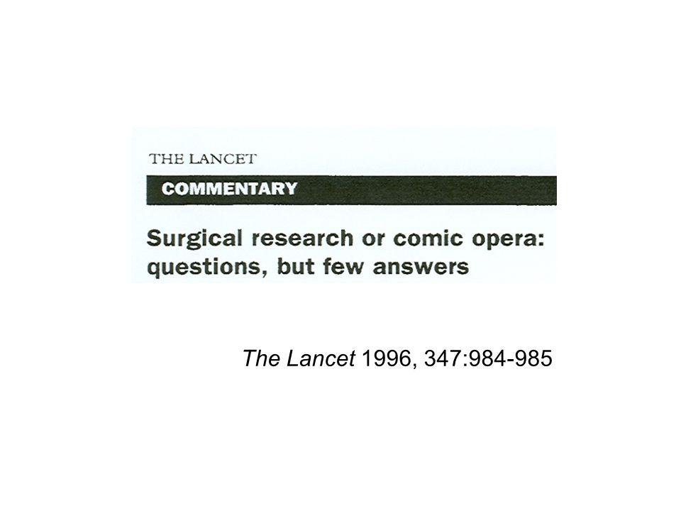 The Lancet 1996, 347:984-985
