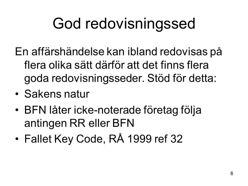 7 God redovisningssed Måste företag följa BFN:s normer.