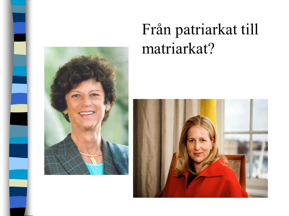 Från patriarkat till matriarkat?