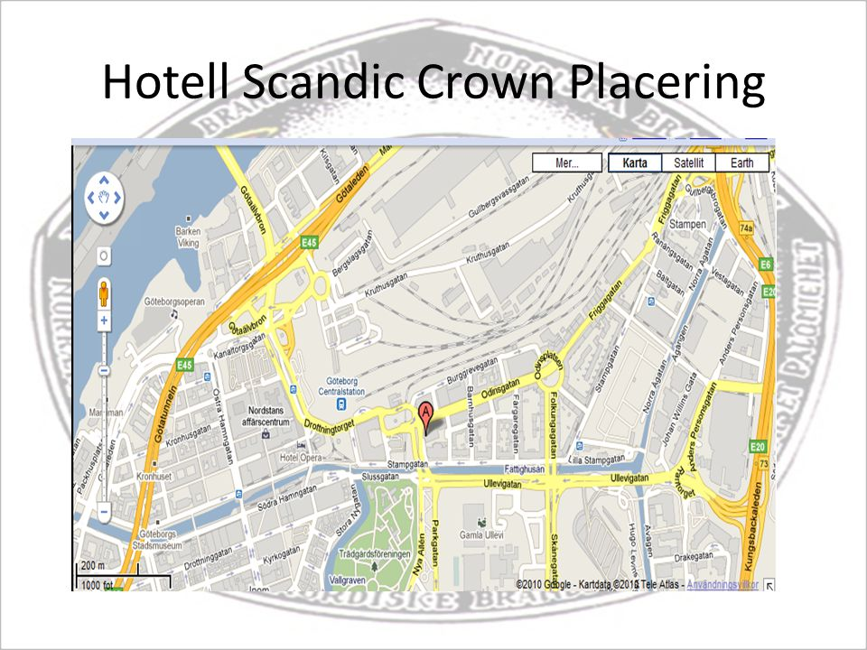 Hotell Scandic Crown Placering
