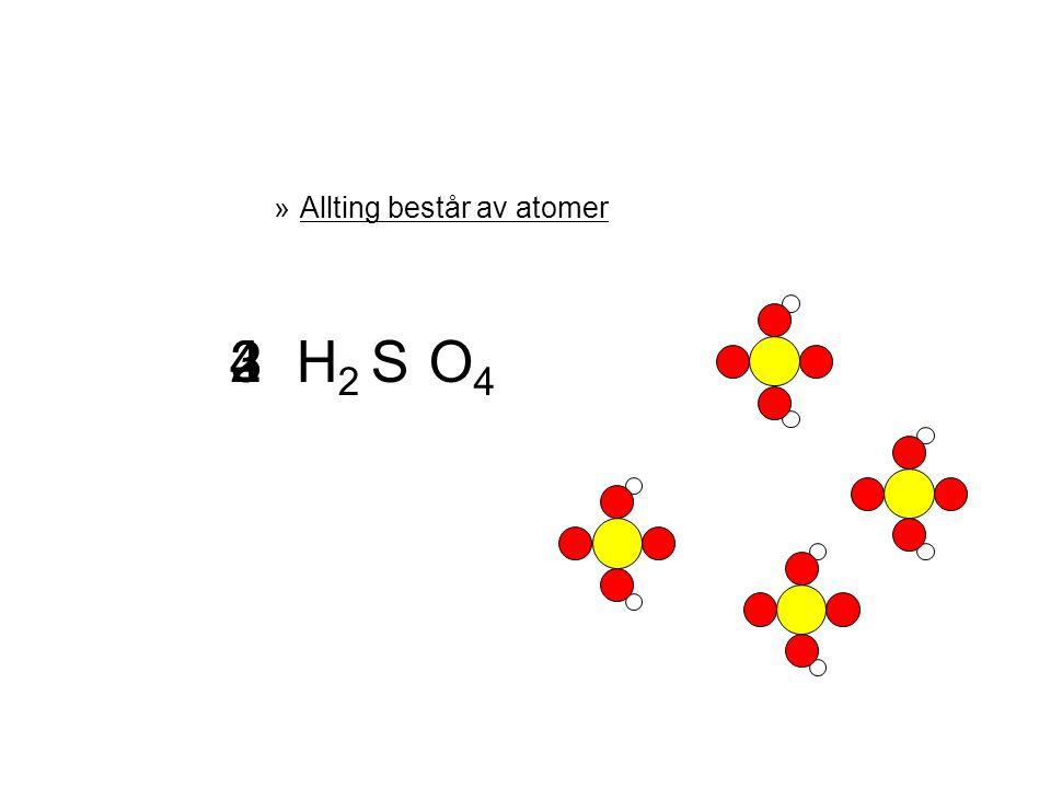 En KEMISK REAKTION är? Nytt ämne bildas!! Ämne A + Ämne B  Ämne C Samma antal atomer in som ut!