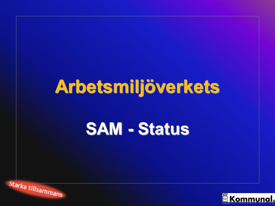 Arbetsmiljöverket bedömer SAM-status Det systematiska arbetsmiljöarbetet ska bedömas av arbetsmiljöinspektörer enligt en fyrgradig skala.