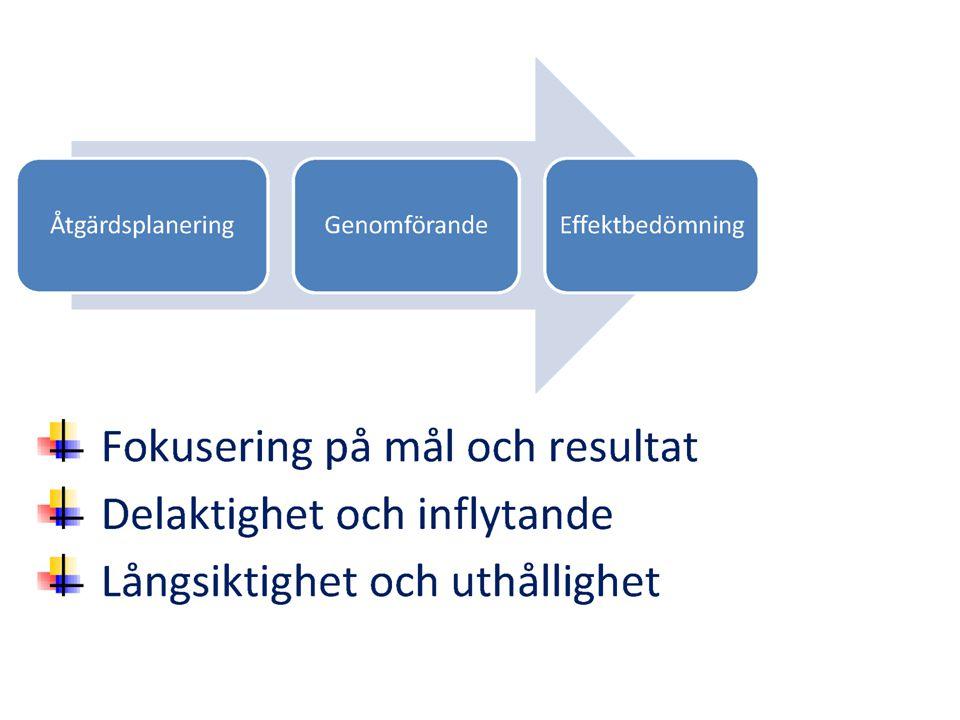 Utvärdering Efter varje termin gjordes utvärdering vilken låg till grund för nästa termin.