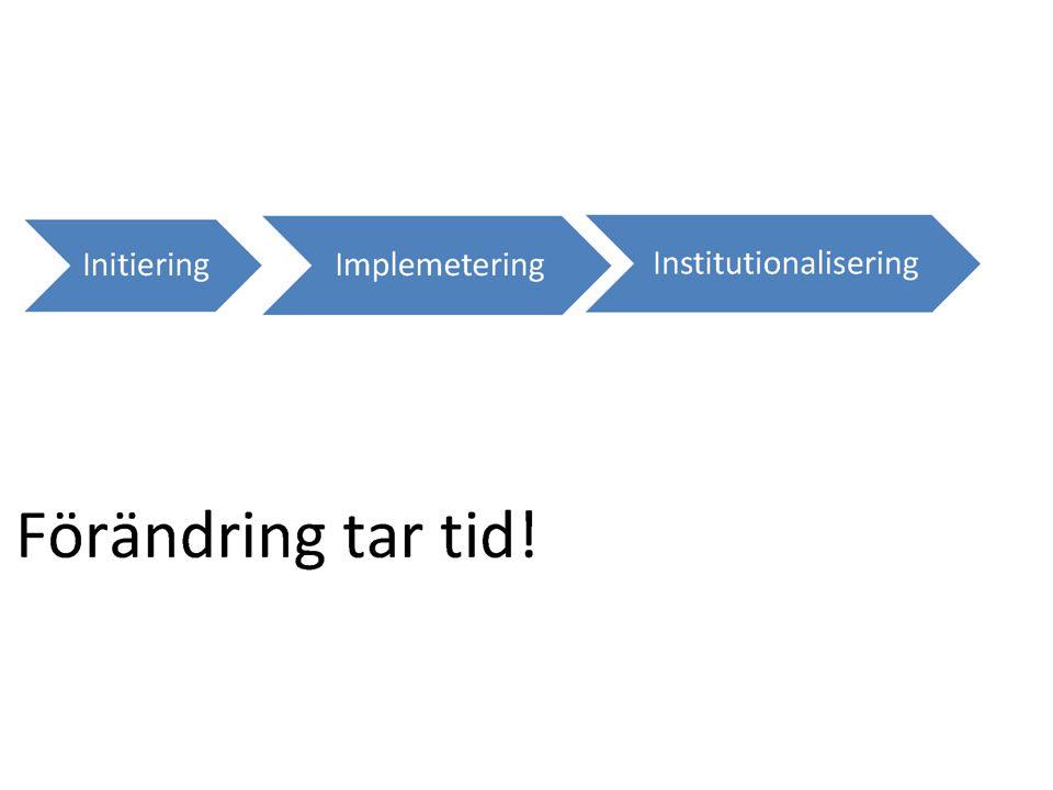 Initiering - lägesbedömning, probleminventering, studiebesök, konsulter.