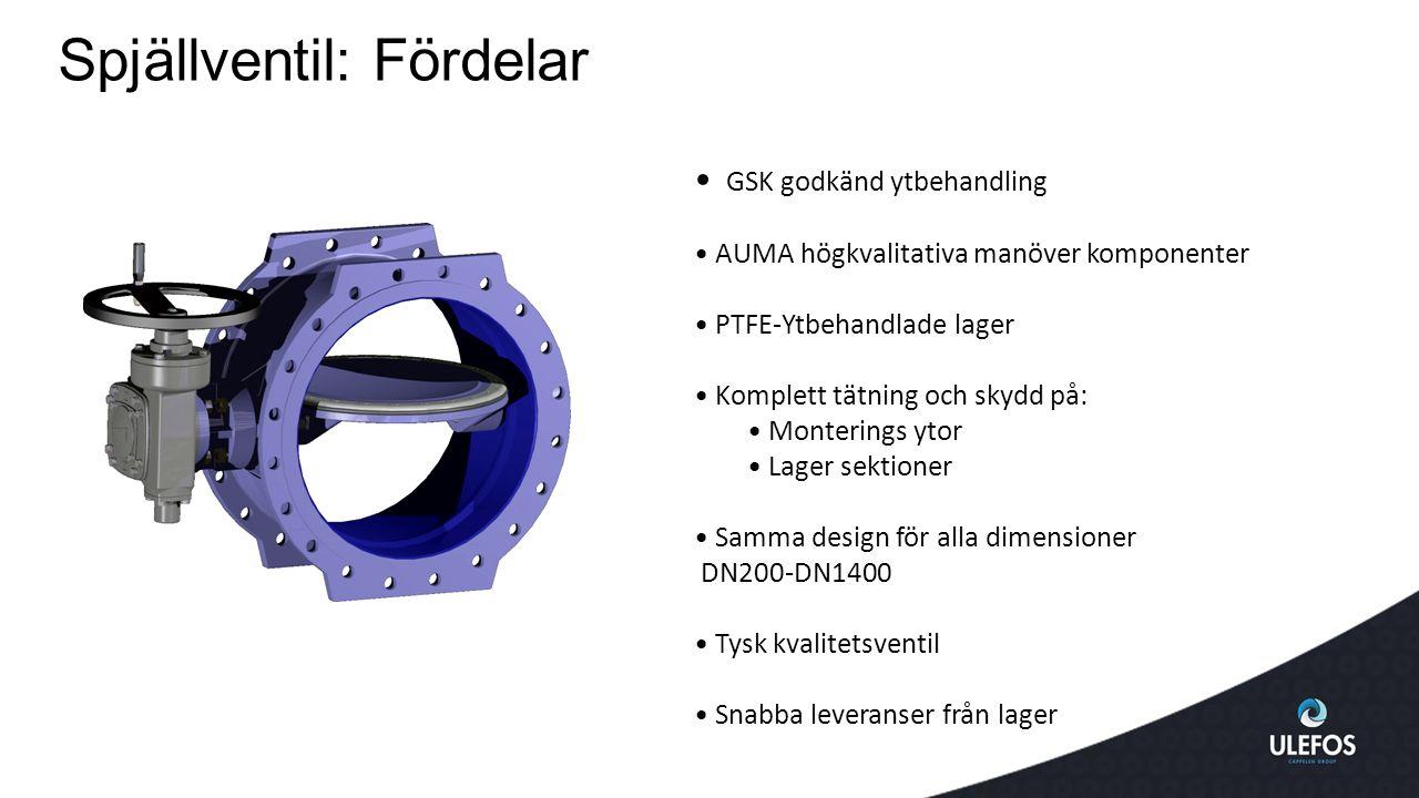 Spjällventil: Fördelar GSK godkänd ytbehandling AUMA högkvalitativa manöver komponenter PTFE-Ytbehandlade lager Komplett tätning och skydd på: Monteri