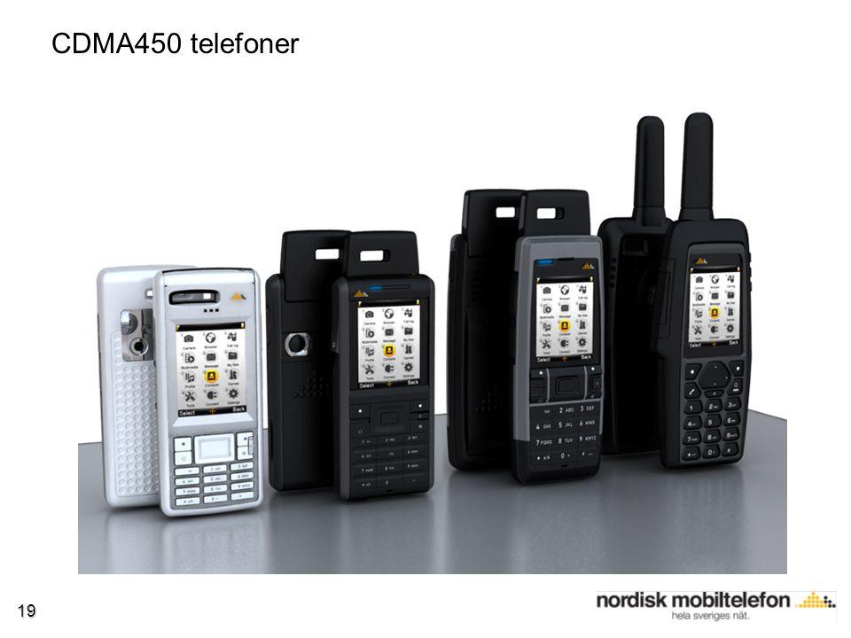 19 CDMA450 telefoner