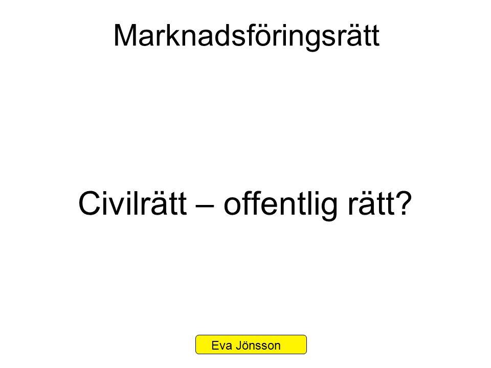 Marknadsföringsrätt Civilrätt – offentlig rätt? Eva Jönsson