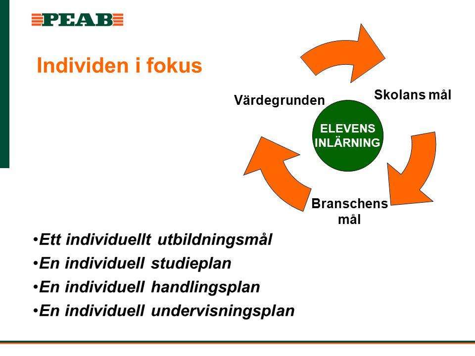 Individen i fokus Ett individuellt utbildningsmål En individuell studieplan En individuell handlingsplan En individuell undervisningsplan Skolans mål