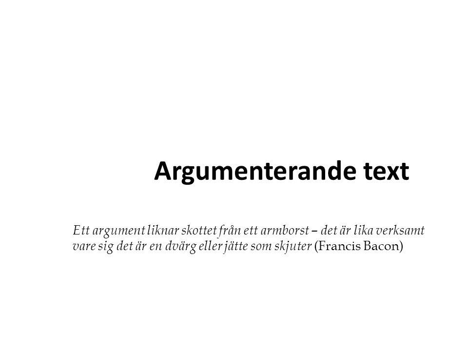 Sammanfattning Tesen ska vara klar och lätt att förstå Disponera din text : nytt stycke när du tar upp ett nytt argument Styckeindelning som tydliggör textens delar: inledning, argumentation och avslutning.