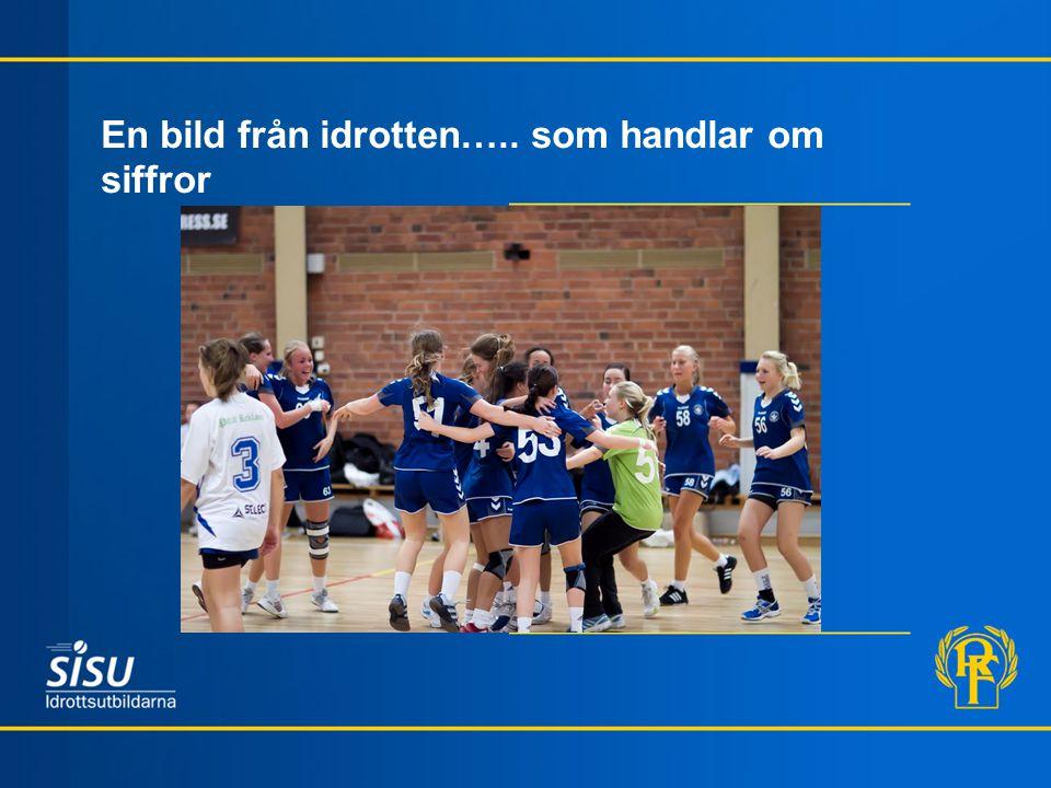 En bild från idrotten….. som handlar om siffror