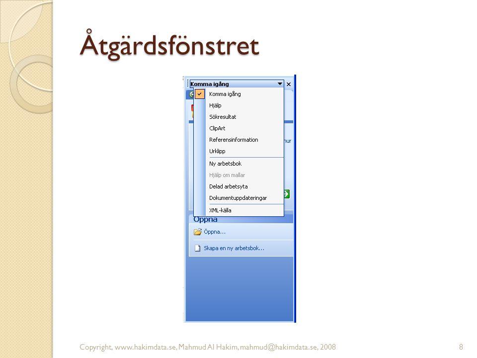 Att använda hjälpen 9Copyright, www.hakimdata.se, Mahmud Al Hakim, mahmud@hakimdata.se, 2008