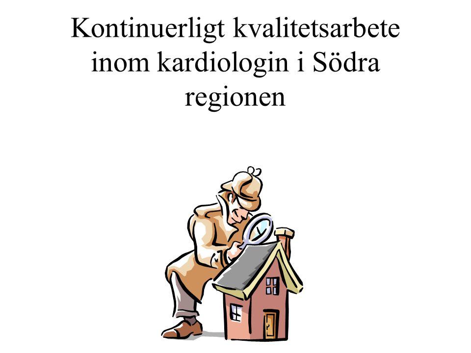 Kontinuerligt kvalitetsarbete inom kardiologin i Södra regionen