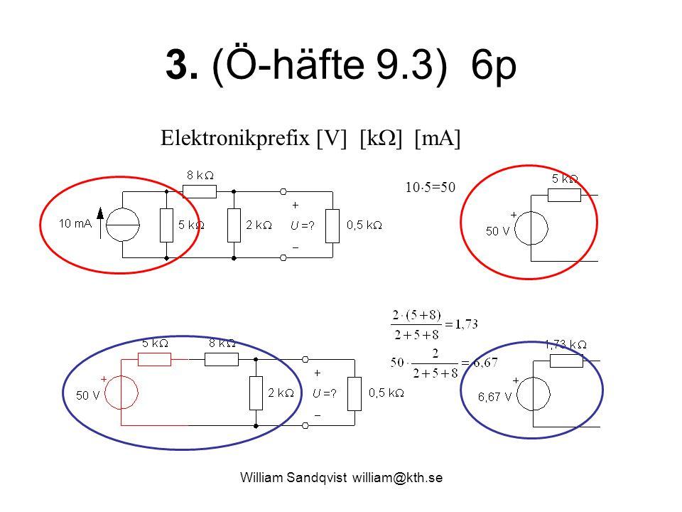 William Sandqvist william@kth.se 8.(Ö-häfte 16.3) 4p Svar d) Gränsfrekvens.
