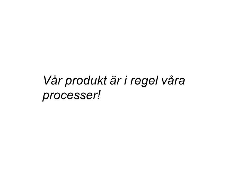 Vår produkt är i regel våra processer!