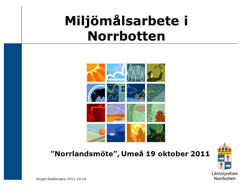 2009-06-04 Kerstin Lundin-Segerlund Utvärdering -regionala delmål 2010 Jörgen Naalisvaara 2011-10-19