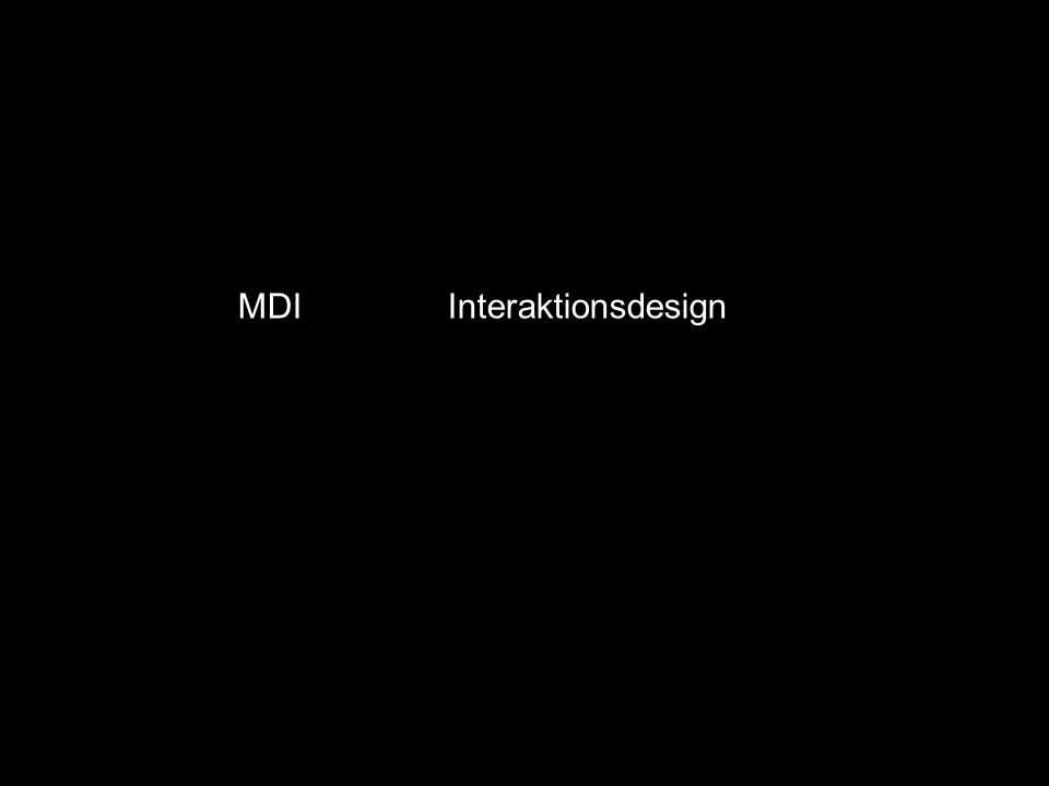 MDI Interaktionsdesign