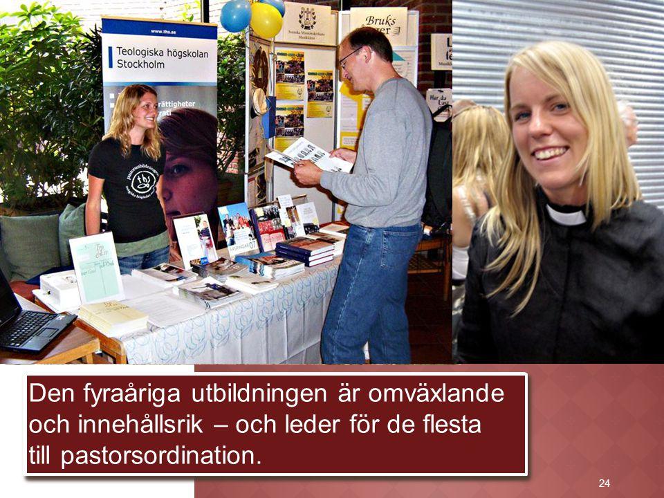 24 De säljer också studenttidningen Årsringar med artiklar om kallelse, utbildning och tjänst. Alla pastorskandidater har en församlingsanställd pasto