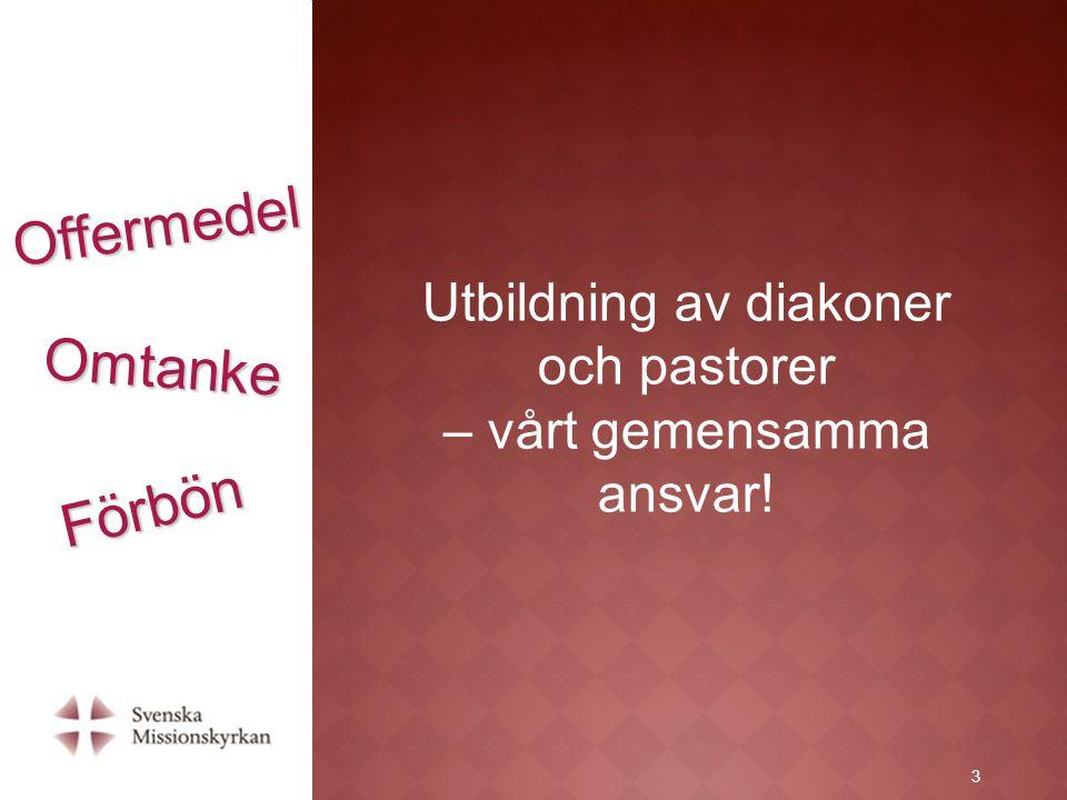 4 Bön- och offerdag för diakon- och pastorsutbildning 4