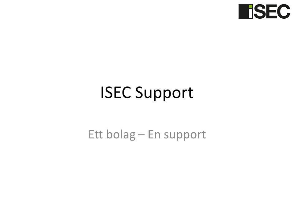 ISEC Support Ett bolag – En support