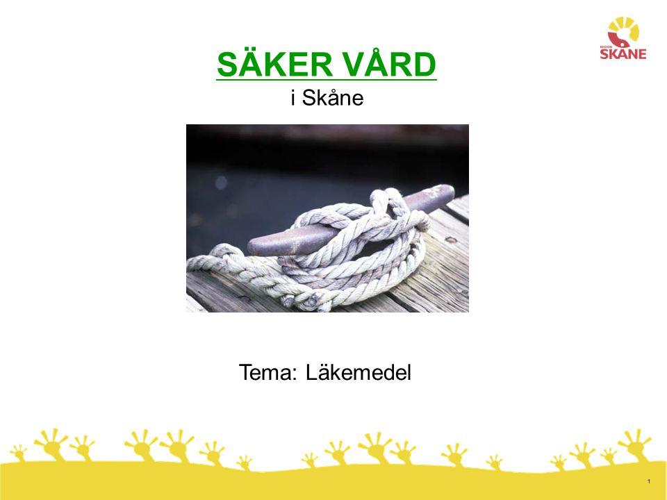 1 SÄKER VÅRD i Skåne Tema: Läkemedel
