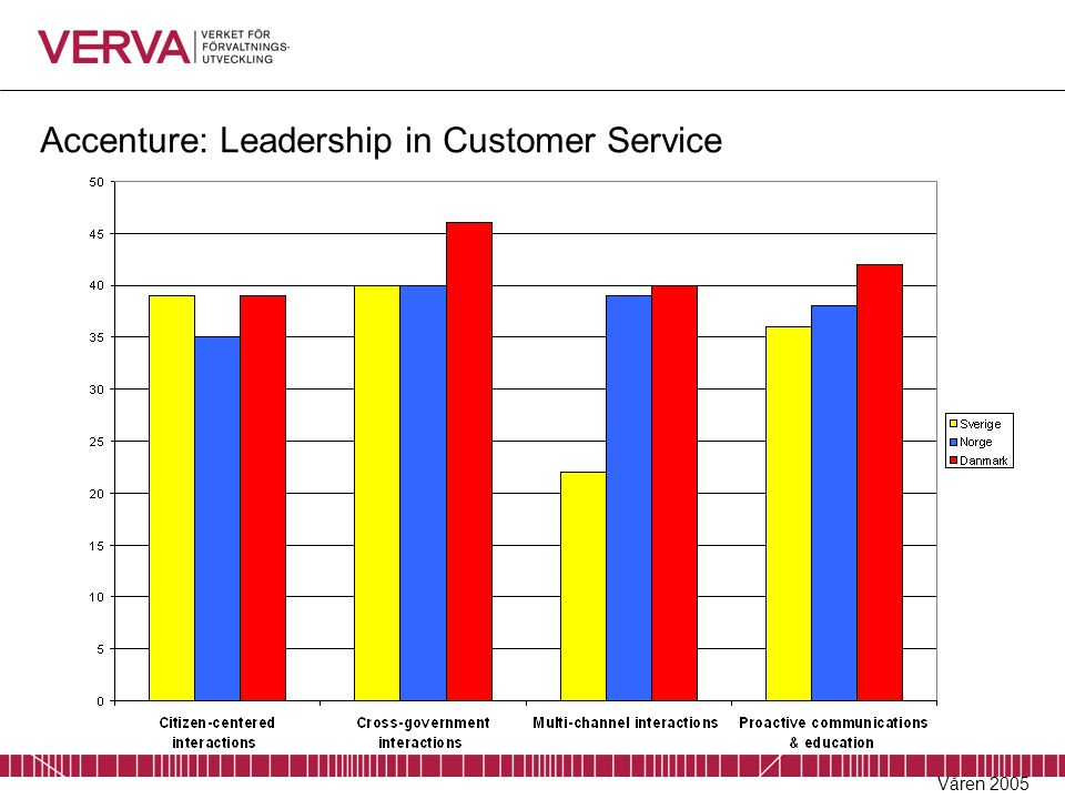 Accenture: Leadership in Customer Service Våren 2005