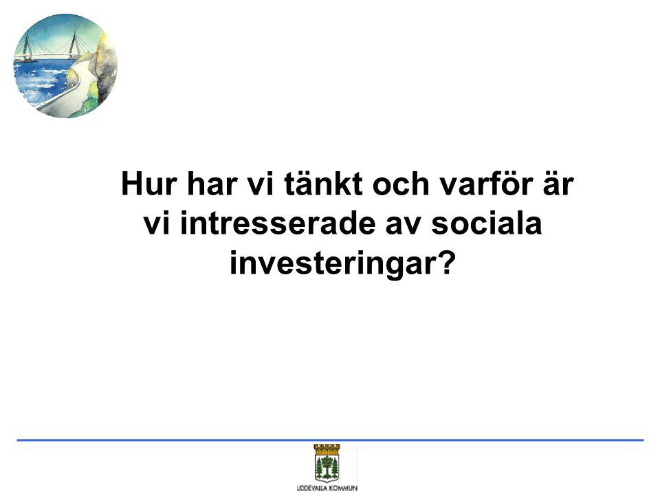 Hur har vi tänkt och varför är vi intresserade av sociala investeringar?