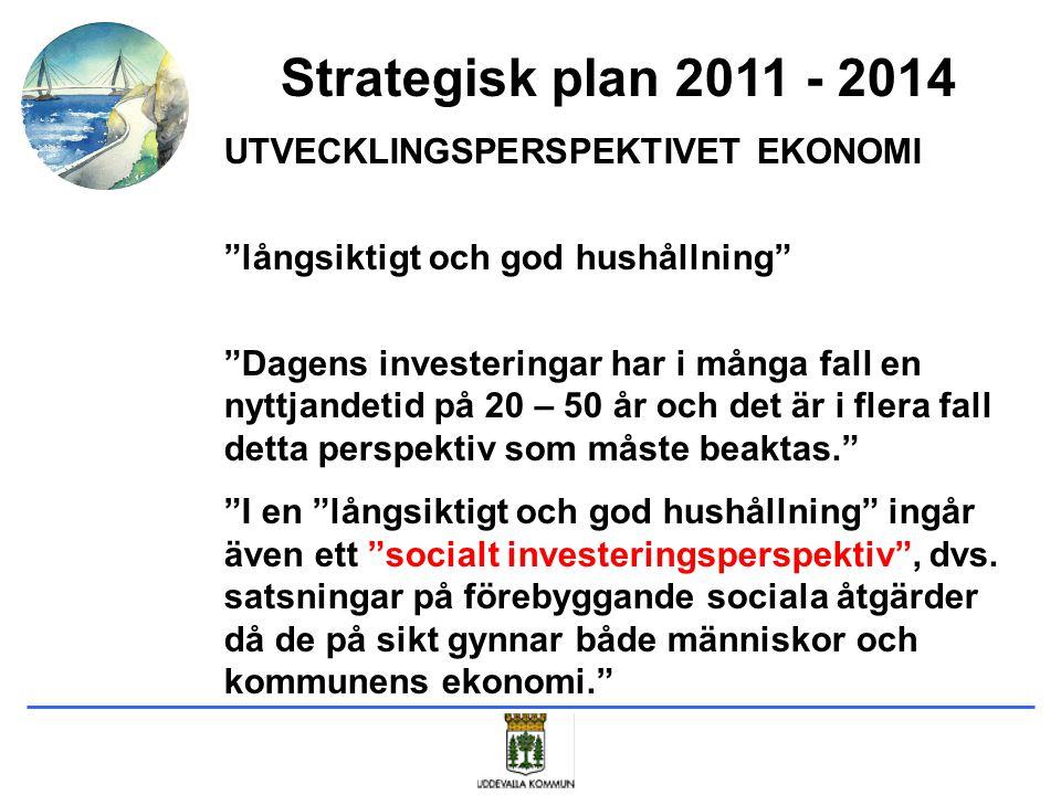 """Strategisk plan 2011 - 2014 UTVECKLINGSPERSPEKTIVET EKONOMI """"långsiktigt och god hushållning"""" """"Dagens investeringar har i många fall en nyttjandetid p"""