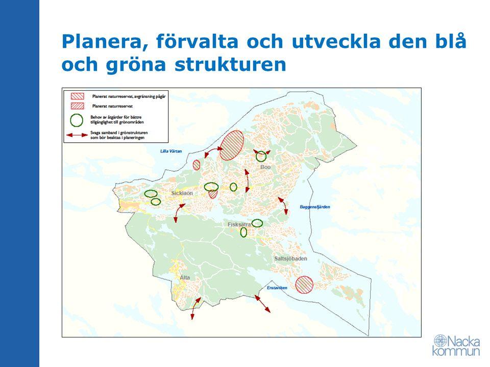 Planera, förvalta och utveckla den blå och gröna strukturen