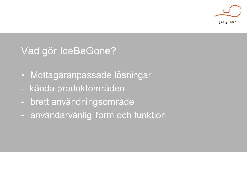 Vad gör IceBeGone.