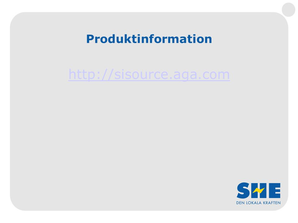 Produktinformation http://sisource.aga.com