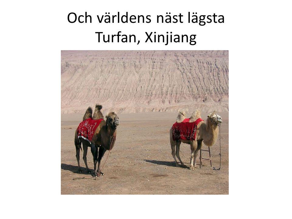 Och världens näst lägsta Turfan, Xinjiang