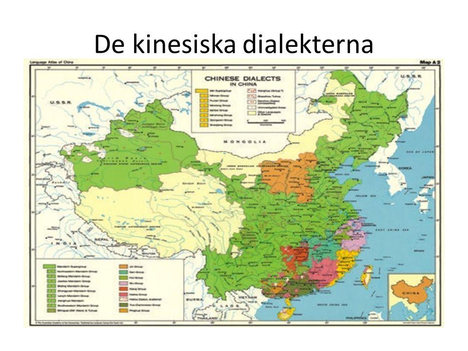 De kinesiska dialekterna