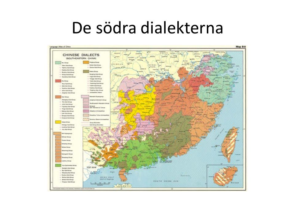 De södra dialekterna