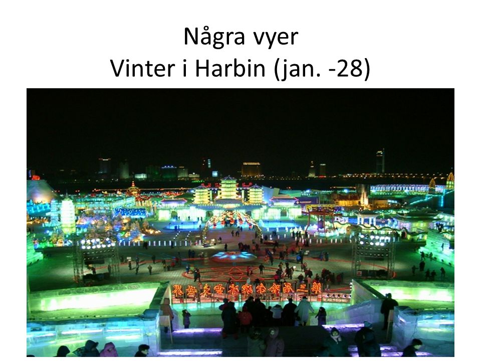 Några vyer Vinter i Harbin (jan. -28)