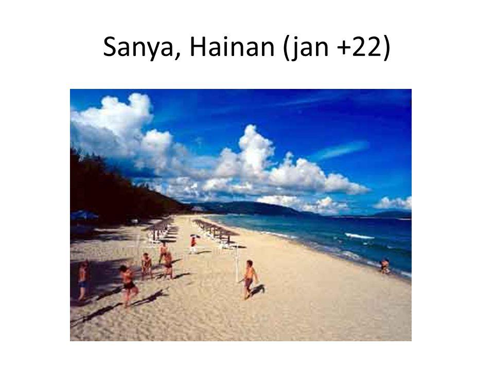 Sanya, Hainan (jan +22)
