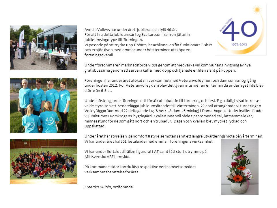 Avesta Volleys har under året jubilerat och fyllt 40 år. För att fira detta jubileumsår tog Eva Larsson fram en jättefin jubileumslogotype till föreni