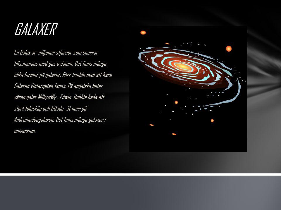 VINTERGATAN Vintergatan är ungefär 200- 500 miljarder stjärnor.
