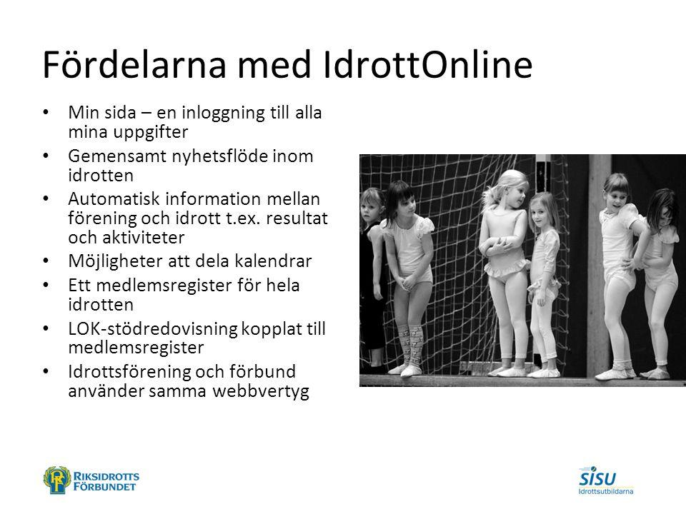 IdrottOnline Klubb IdrottOnline Förbund Publika webbplatserWebbaserad idrottsadministration Idrottens tävlingssystem - serielottning - domartillsättning - söka arrangemang - resultat - statistik - licenser - live sändningar - avgiftshantering m.m.