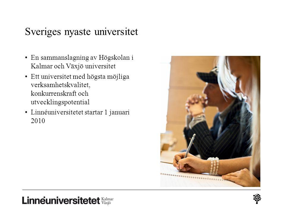 Linnéuniversitetets vision Linnéuniversitetet – en attraktiv och internationell kunskapsmiljö som odlar nyfikenhet, nytänkande, nytta och närhet.