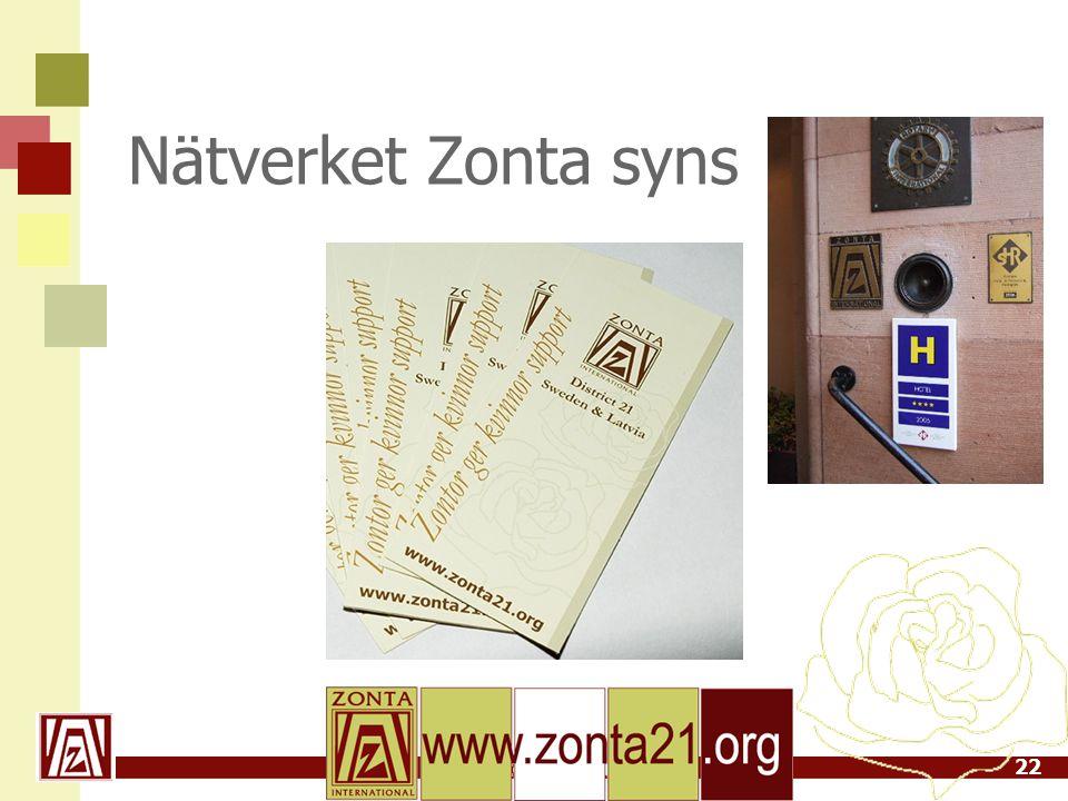 www.zonta21.org Nätverket Zonta syns 22