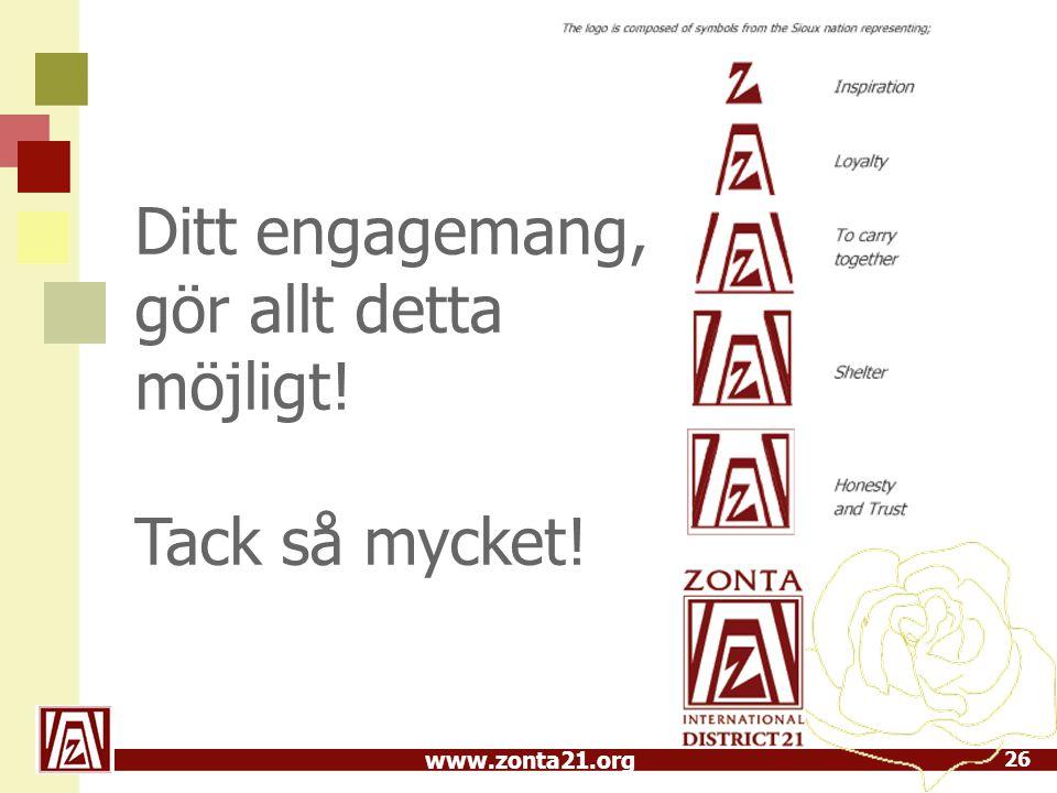 www.zonta21.org 26 Ditt engagemang, gör allt detta möjligt! Tack så mycket!